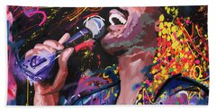 Hand Towel featuring the painting Stevie Wonder by Richard Day