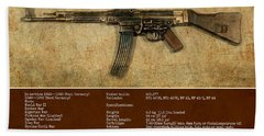 Bath Towel featuring the digital art Stg 44 Sturmgewehr 44 by John Wills