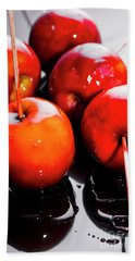 Sticky Red Toffee Apple Childhood Treat Bath Towel