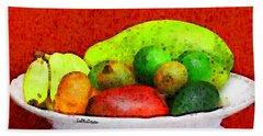 Still Life Art With Fruits Bath Towel