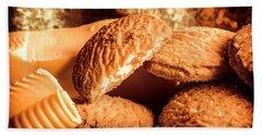 Still Life Bakery Art. Shortbread Cookies Bath Towel