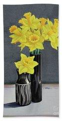 Still Life Daffodils Bath Towel