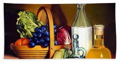 Still Life In Oil Hand Towel