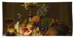 Still Life Hand Towel by Johann Wilhelm Preyer