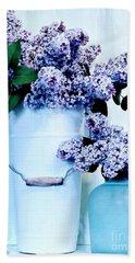 Still Life Of Lilacs Bath Towel