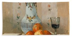 Still Life With Apples And Pitcher, 1872  Bath Towel