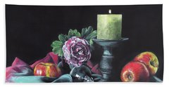 Still Life With Candle Hand Towel