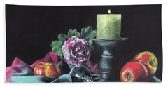 Still Life With Candle Bath Towel