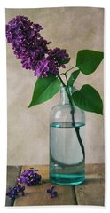 Hand Towel featuring the photograph Still Life With Fresh Lilac by Jaroslaw Blaminsky
