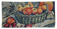 Still Life With Fruit And Vegetables Bath Towel