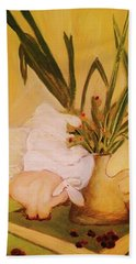 Still Life With Funny Sheep Bath Towel