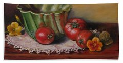Still Life With Green Bowl Hand Towel
