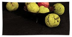 Still Life With Horse Apples Hand Towel