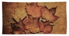 Still Life With Leaves Bath Towel by Vittorio Chiampan