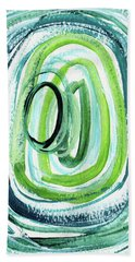 Still Orbit 9- Abstract Art By Linda Woods Bath Towel