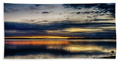 Still Sunset Hand Towel by Doug Long