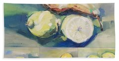 Still With Lemon And Pear Hand Towel