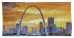 St.louis Arch - Sunset Hand Towel