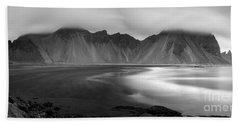 Stokksnes Iceland Bandw Bath Towel by Gunnar Orn Arnason