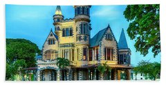Bath Towel featuring the photograph Stollmeyer Castle Trinidad by Rachel Lee Young
