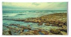 Stone And Sea Bath Towel by Joseph S Giacalone