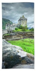 Stone Bridge To The Castle Bath Towel