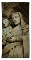 Stone Madonna And Child Bath Towel