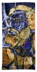 Hand Towel featuring the photograph Stone Man by Pennie  McCracken