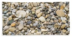 Stone Pebbles Patterns Hand Towel by John Williams