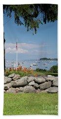 Stone Wall And Tenants Harbor, Maine  #8455 Hand Towel