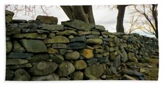 Stone Wall, Colt State Park Hand Towel