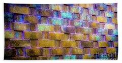 Brick Wall In Abstract 499 Bath Towel