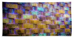 Bath Towel featuring the photograph Brick Wall In Abstract 499 by D Davila