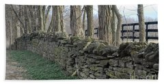 Hand Towel featuring the photograph Stone Wall by Linda Mesibov
