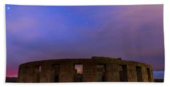 Bath Towel featuring the photograph Stonehenge Sunrise by Cat Connor