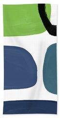 Stones 7- Modern Art By Linda Woods Bath Towel