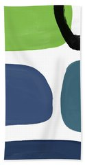 Stones 7- Modern Art By Linda Woods Hand Towel