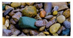 Hand Towel featuring the photograph Stones by Kevin Blackburn