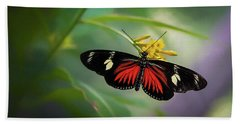Butterfly, Stop And Smell The Flowers Bath Towel