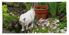 Stop To Smell Flowers Bath Towel