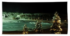 Storforsen In Night Hand Towel