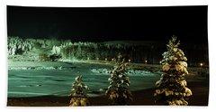 Storforsen In Night Bath Towel by Tamara Sushko