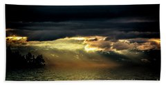 Storm 4 Hand Towel by Elaine Hunter