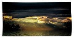Storm 4 Bath Towel by Elaine Hunter