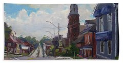Storm Approach Over Downtown Georgetown Hand Towel