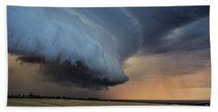 Storm Approaching Cape Tryon Lighthouse Hand Towel