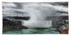 Storm At Niagara Bath Towel