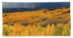 Storm At Ohio Pass During Autumn Bath Towel by Jetson Nguyen