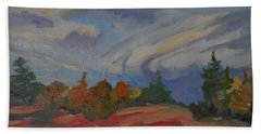 Hand Towel featuring the painting Storm Cell by Francine Frank