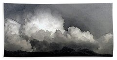 Storm Clouds Are Brewin' Hand Towel by Methune Hively